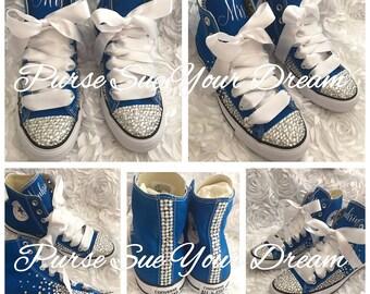 Personalized Bridal Swarovski Crystal Wedding Converse - Swarovski Crystal Wedding Shoes - Wedding Party Converse - Wedding Converse