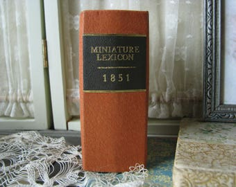 Wee Antique Miniature Lexicon Book Of The English Language, 1851 Mini Lexicon Book, Antique Pocket Lexicon Book