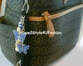 Leather Tassel Keychain, Tassel Purse Charm, Leather Key Fob, Tassel Handbag Charm, Tassel Keychain Charm, Black Leather Tassel
