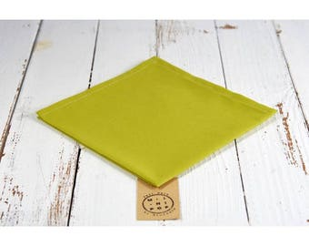 Napkin in olive green GOTS, zero waste, eco-friendly and sustainable organic cotton