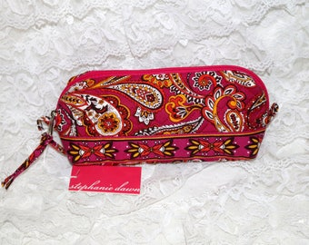 Stephanie Dawn Make-Up Bags  - Pink Paisley  - Retired Pattern - NWT