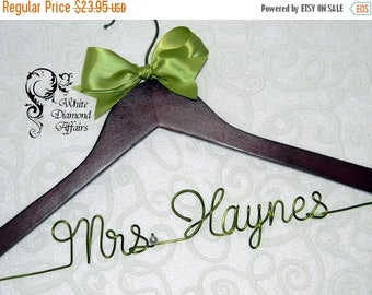 Christmas in July Personalized Wedding Hanger, Hanger, Wedding Dress Hanger, Personalized Bridal Hanger Gift - Rush delivery available