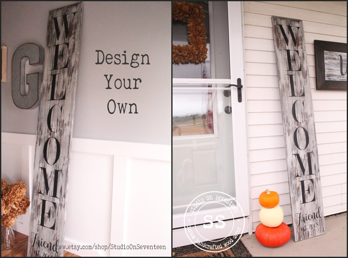 Design Your Own Personalized Custom Porch Sign Large Wood