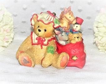 "1993 Cherished Teddies ""Carolyn"" Figurine/Wishing You All Good Things/ Good Condition/Enesco Figurine"