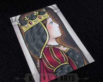 Queen - Artist Trading Card (ATC) Original Marker Work