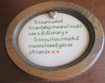 Friendship Sampler Wall Mini Sampler