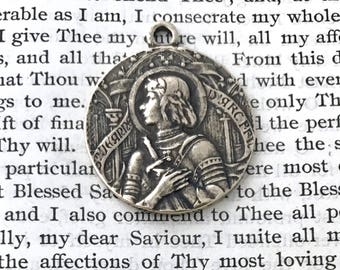 St. Joan of Arc Medal - BRONZE - St. Jeanne D'Arc Medialle - Patron of soldiers and France (CD-358)