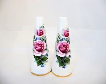 Salt And Pepper Shakers Delphine Bone China, Collectible Salt And Pepper