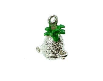 Sterling Silver Opening Pineapple Charm For Bracelets