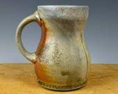 Earthy Brown Wood-fired mug. Free shipping to the lower 48 States.