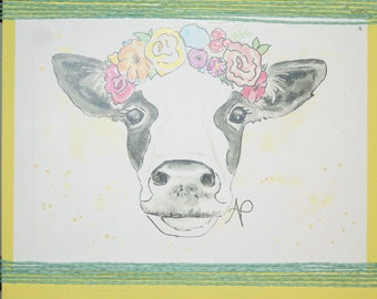 Cow sign, Wood cow sign, Cow art