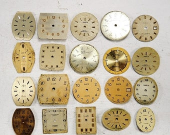 ON SALE Vintage Watch Faces - set of 20 - c21