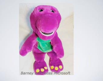 "Barney Actimates Purple Dinosaur Talking Singing Plush Stuffed Animal Interactive Electronic 18"""