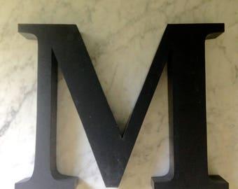 """Vintage metal sign letter """"M"""""""