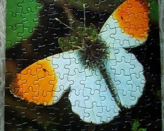 Vintage Orange Tip Butterfly jigsaw by Waddington's, 1974 100 pieces