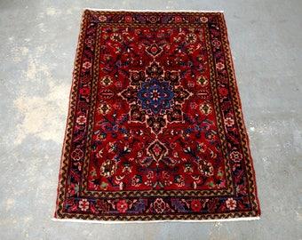 Persian Rug - 1990s Hand-Knotted Heriz Gorovan Rug (3673)