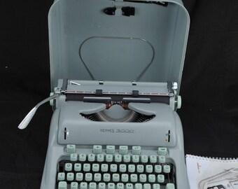 EXC 1964 Hermes 3000 Refurbished Elite  Portable Typewriter W/ Warranty >