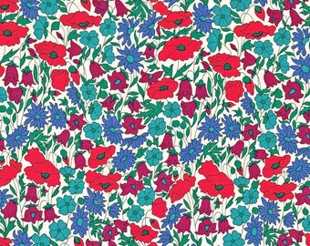 Poppy and Daisy N Liberty London Tana lawn fabric