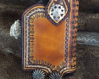 Hand Made Leather Smartphone Case  IPhone 7s/7 and 6s/6 IPhone Plus  Smart Phone Holster Made to Fit Protective Case