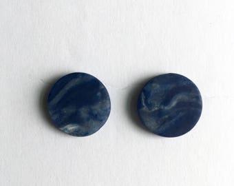 Blue Haze Geometric Clay Studs
