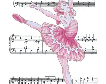 Sugar Plum Fairy Ballerina Embroidered on Made-to-Order Pillow Cover