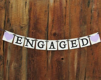 CHOOSE YOUR SAYING - Lavender hearts - We eloped - Just engaged - Be Mine - Just married - We Still Do
