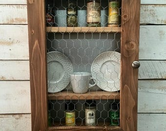 ON SALE Spice Rack Cabinet-Wooden Spice Rack Cabinet-Spice Organizer - Rustic Kitchen - Kitchen Cabinet - Country Decor -Kitchen Spice -Wood