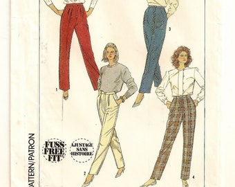 "A Fuss-Free Fit® Pants and Trousers with Leg Variations Sewing Pattern for Women: Uncut - Size 14, Waist 28"" Hips 38"" • Simplicity 7664"