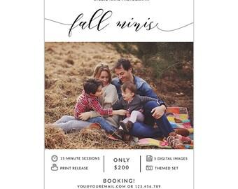 MB30 :. Fall Mini Session template | fall Minis