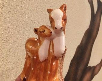 Vintage Block Pottery Anyhropomorphic Giraffe planter