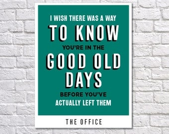 INSTANT DOWNLOAD - The Office, Digital Download, Typography Poster, Inspirational Poster, Office Decor