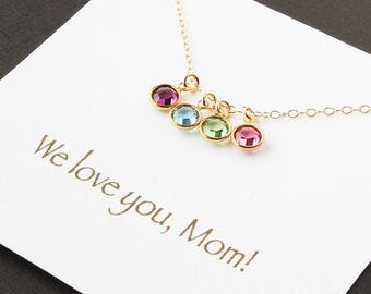 Mom gift from kids, kids gift for mom, mother gift, gifts for mom, gifts for mother, christmas gift for mom, necklace for mom, birthstone