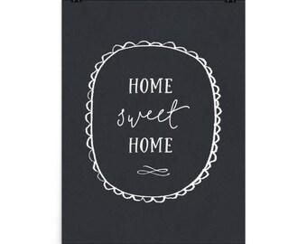 Home Sweet Home Chalkboard Print
