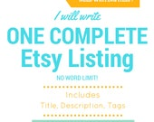 Etsy SEO Help - SEO Service - Content Writer - Copywriting - Product Description Keywords  Title Tags - Etsy Listing- Etsy Help