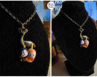 Necklace deer, Lily & Severus