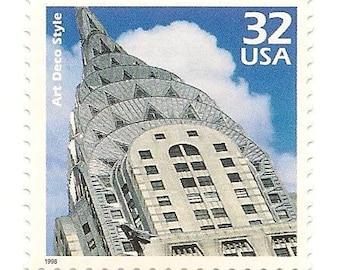 Unused 1998 Chrysler Building New York Art Deco - Postage Stamps Number 3184j