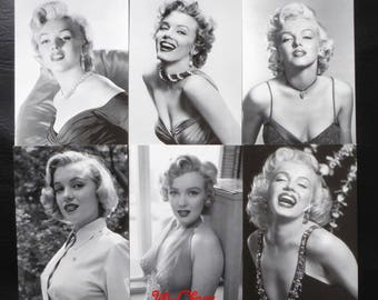 "Postcard style retro vintage women pinup marilyn ""model 3"" x 1"
