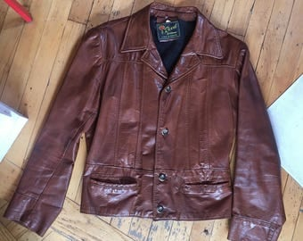 Vintage Retro Reed Women's Brown Leather Jacket