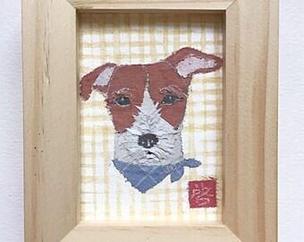 Jack Russell Terrier Art, Russell Terrier Gift, Broken Coat