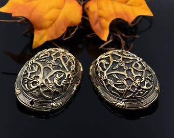 Viking Fibel Set Birka / Medieval Brooches / silver plated # 9