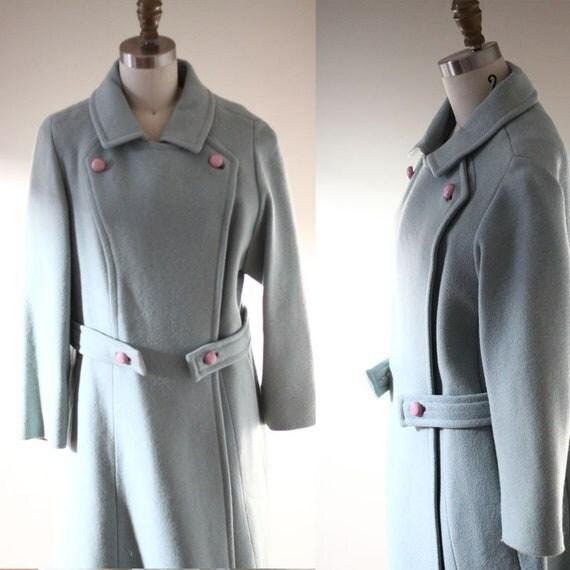 1960s blue wool coat  // 1960s mod jacket // vintage wool jacket