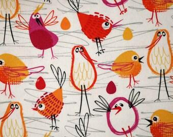 PRE-Order, Birds, Knitting Bag, Flannel, Crochet, Knit, Yarn, Wool, Yarn Storage, Yarn Bag with Hole, Grommet, Handle