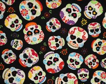 PRE-Order, Sugar Skulls, Knitting Bag, Crochet, Knit, Yarn, Wool, Yarn Storage, Yarn Bag with Hole, Grommet, Handle