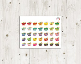 Grocery Shopping Basket Stickers - ECLP Stickers