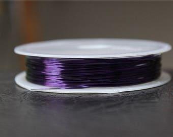 a 13 M purple 0.4 mm colored copper wire coil