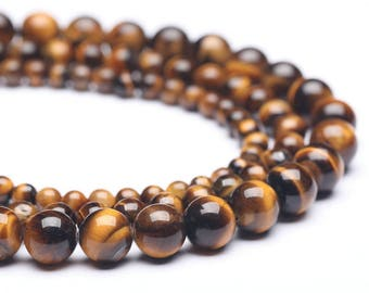 a string of beads stone tiger's eye  round 2mm/3mm/4mm/6mm/8mm/10mm/12mm