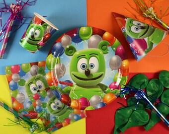 Gummibär (The Gummy Bear) Festive Party Set ~ Set of 8 ~ Birthday Party