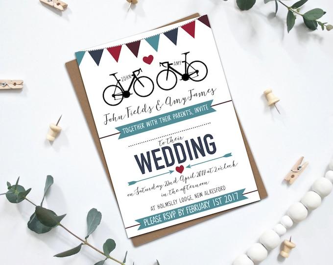 PRINTABLE Wedding Invitation Bundle - Road Bikes
