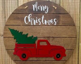 Christmas Truck Door Hanger