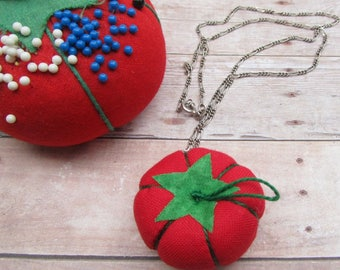 Mini Tomato Pincushion Necklace - PDF Sewing Pattern
